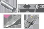 Komatsu teeth and adapter